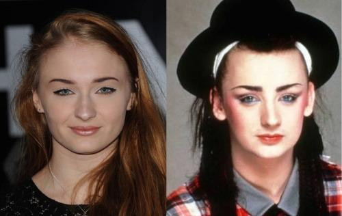 Sophie Turner and a Young Boy George