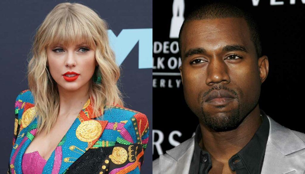 taylor swift kanye west two faced