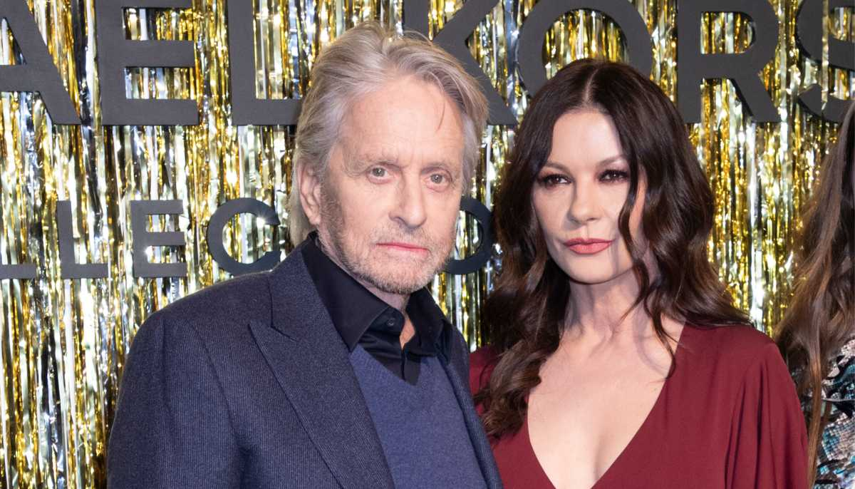 Catherine Zeta Jones and husband Michael Douglas in 2019