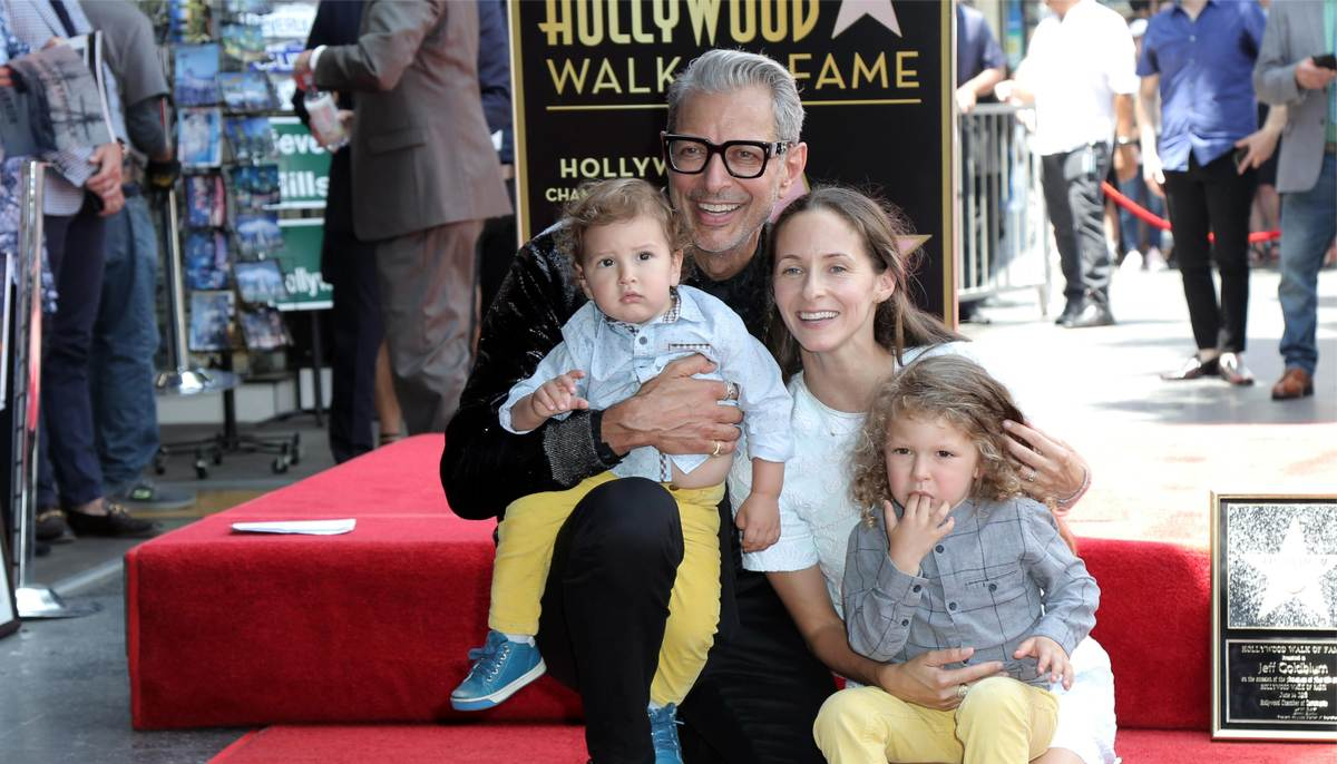 Jeff Goldblum and his family at Hollywood Walk of Fame ceremony