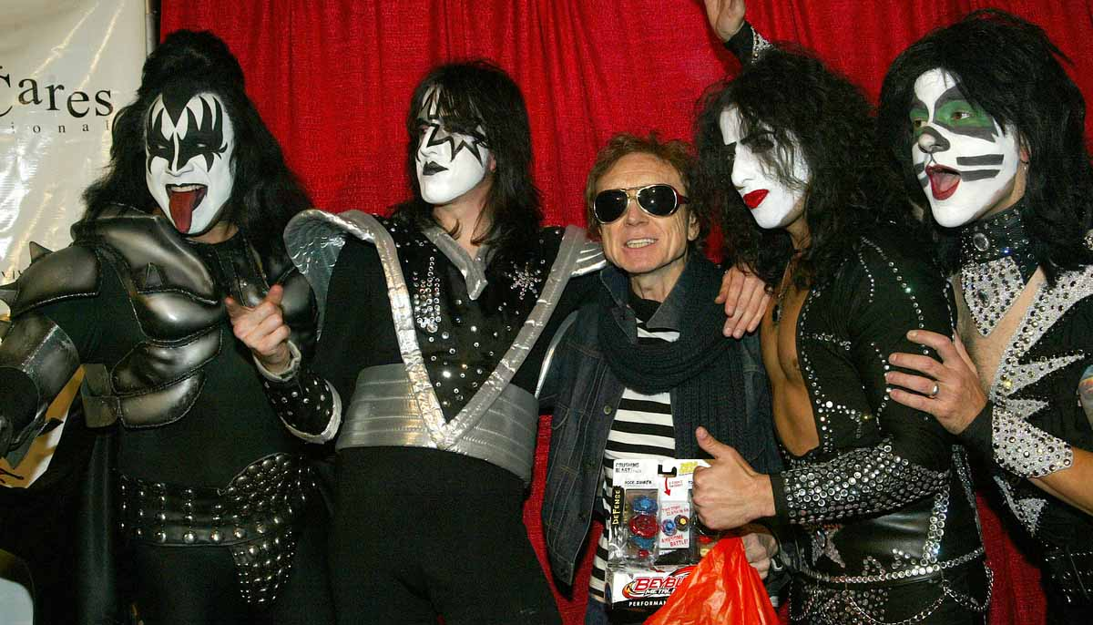 KISS Posing for a picture at a live event