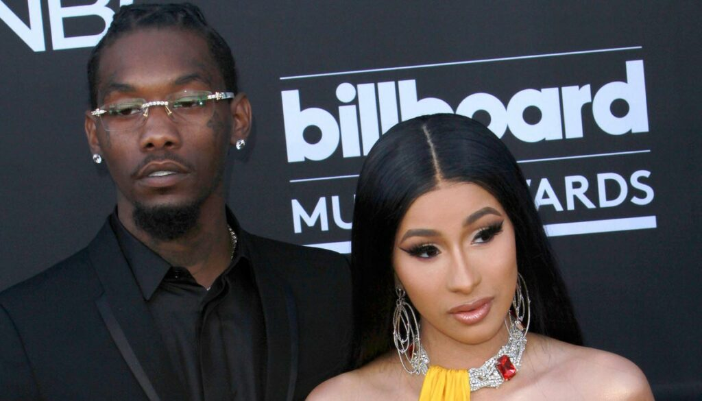 cardi b and husband offset at the billboard music awards