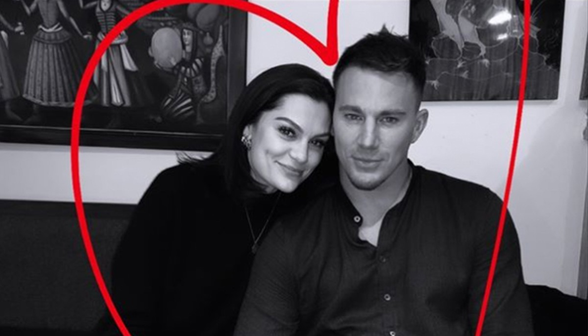 jessie j and channing tatum posing for a picture