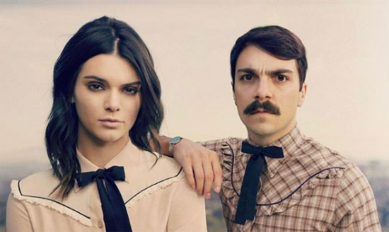 kendall jenner and kirby jenner dressed in matching bowties