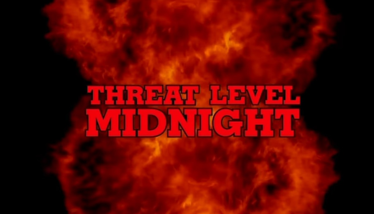 threat level midnight opening screen from NBC